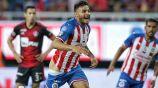 Vega, en festejo tras su gol en el Clásico Tapatío