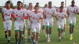 El combinado panameño en practicas previo al partido ante México
