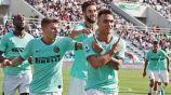 Lautaro Martínez festeja uno de sus goles vs Sassuolo