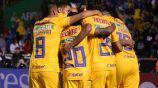 Tigres festejando gol en Apertura 2019