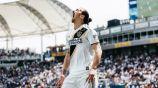 Ibrahimovic, durante un juego con el LA Galaxy