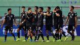 Jugadores del Tri Sub 17 festejan en el juego vs Holanda