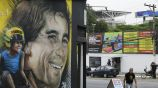 Mural de Ayrton Senna en las calles de Sao Paulo