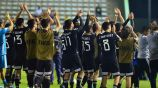 Jugadores de la Selección Mexicana Sub 17 celebrando el pase a la Final
