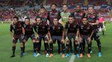 Jugadores del Veracruz, antes de un partido