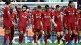 Salah festeja uno de sus goles contra Watford