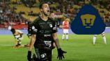 Juan Ignacio Dinenno festeja un gol con Deportivo Cali