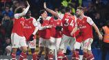 Jugadores del Arsenal celebrando un gol
