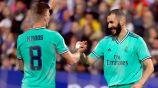 Kross y Benzema en festejo de gol