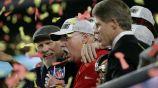 Andy Reid celebrando el título del Super Bowl LIV