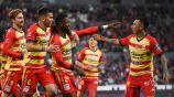 Jugadores del Morelia celebran victoria sobre el Atlas