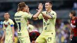 Federico Viñas celebra un gol con América