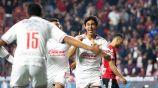 José Juan Macías festeja el gol de Chivas contra Xolos