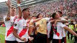 River Plate en festejo de gol