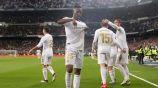 Vinicius celebra una diana con el Real Madrid