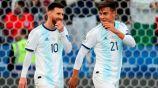 Dybala junto a Messi con Argentina