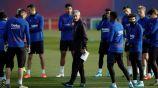 Setién en entrenamiento con Barcelona