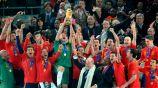 España en festejo del Mundial 2010
