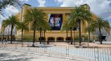 Arena de basquetbol en la 'burbuja' de la NBA