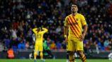Luis Suárez en partido con Barcelona