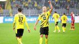 Haaland anotó doblete en goleada del Dortmund