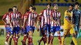Jugadores de San Luis en el partido vs Tigres