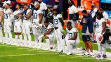 Jugadores de Titans previo a enfrentar a Vikings