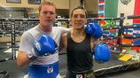 Óscar Valdez y Canelo Álvarez en entrenamiento
