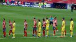 Jugadores de Atlético y Villarreal durante un partido