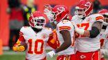 Los Chiefs festejan una acción ante Denver