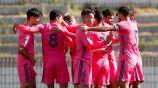 Jugadores del Real Madrid Castilla celebrando un gol