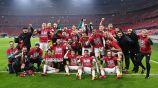 Jugadores de Hungría festejan el pase a la Euro 2020