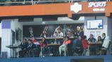 Afición en el Estadio Hidalgo en el Pachuca vs Pumas