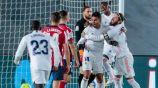 Casemiro y Sergio Ramos festejando el primer gol del Real Madrid