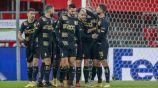 Jugadores del Standard Lieja festejando un gol