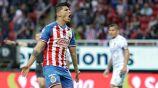 Pulido festeja un gol con el Rebaño