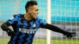 Lautaro Martínez en un partido con el Inter de Milán