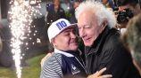 Guillermo Coppola junto a Diego Maradona