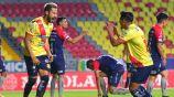 Jugadores del Atlético Morelia festejan un gol