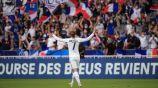 Antoine Griezmann en festejo con Francia