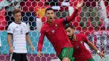 Cristiano Ronaldo tras anotar gol ante Alemania