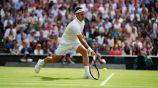 Federer, durante un partido de tenis en Wimbledon