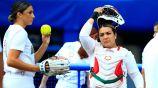 Jugadoras del equipo mexicano de softbol en los Juegos Olímpicos
