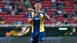 Adam Bareiro en festejo de gol