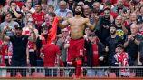 Mohamed Salah celebra anotación con el Liverpool frente al Crystal Palace