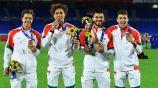 Los jugadores americanistas con el bronce