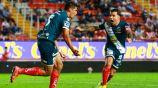 Martínez y Tabó celebrando el gol