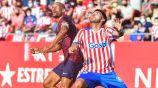 Girona en acción frente al Huesca en la Segunda División de España
