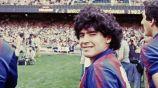 Diego Maradona en su paso por el Barcelona