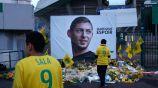 Ofrenda de la afición al futbolista argentino Emiliano Sala